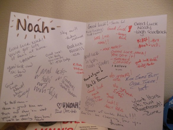 AVSC to Noah Hoffman Good Luck Card