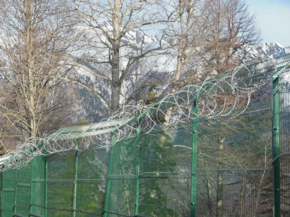 Barbed Wire Around Sochi Olympic Endurance Village