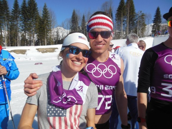 Simi Hamilton and Sophie Caldwell on Women's Olympic Relay Day