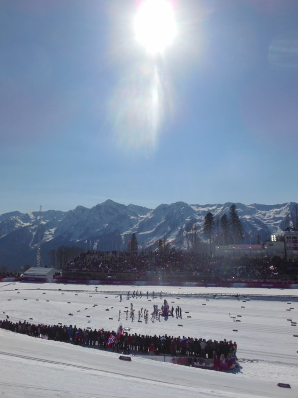 Sunny Day Start of Women's Olympic Relay