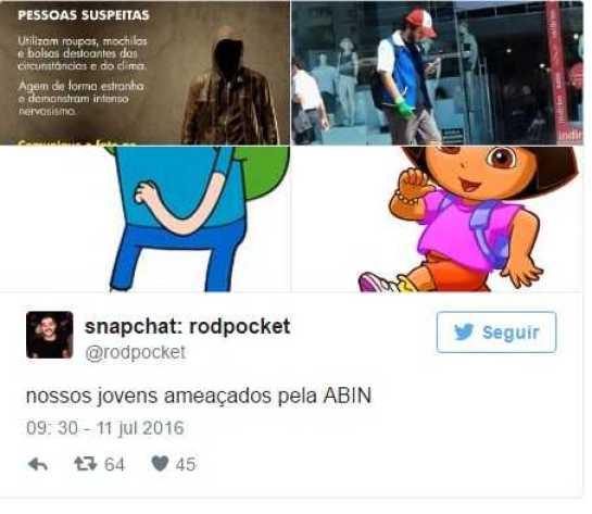 Alerta da Abin sobre terrorismo vira piada nas redes sociais