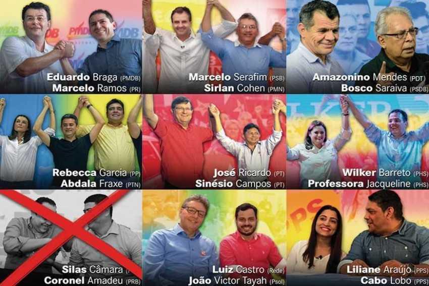 Saiba quem são os candidatos ao Governo do Amazonas na eleição suplementar 2017 / Reprodução A Crítica