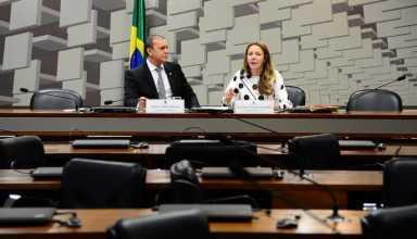 Brasília – O presidente da CPI do CARF, senador Ataídes Oliverira e a relatora da CPI do CARF, senadora Vanessa Grazziotin, durante a leitura do relatório final. (Antônio Cruz/Agência Brasil)
