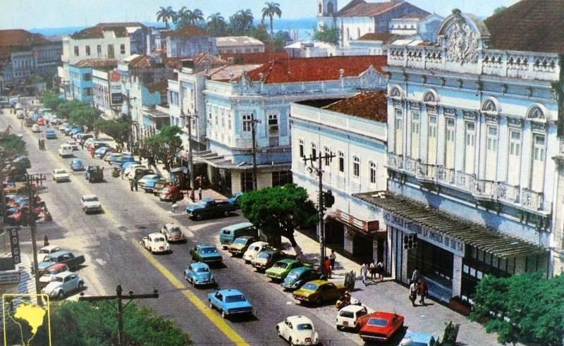Foto antiga da Av. Eduardo Ribeiro esquina com Saldanha Marinho / Foto: Celso Seixas