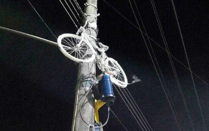 Ghost Bike ou Bicicleta Fantasma da Av. São Jorge. / Foto: Divulgação