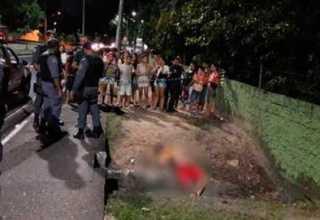 Fugitivo do semiaberto é executado com 4 tiros em frente ao Cigs / Divulgação