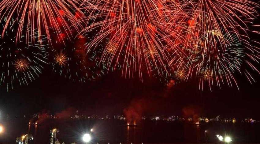 Queima de fogos na Ponta Negra  animaram os presentes / Foto: Semcom
