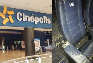 Internauta detona poltrona de cinema em Shopping em Manaus