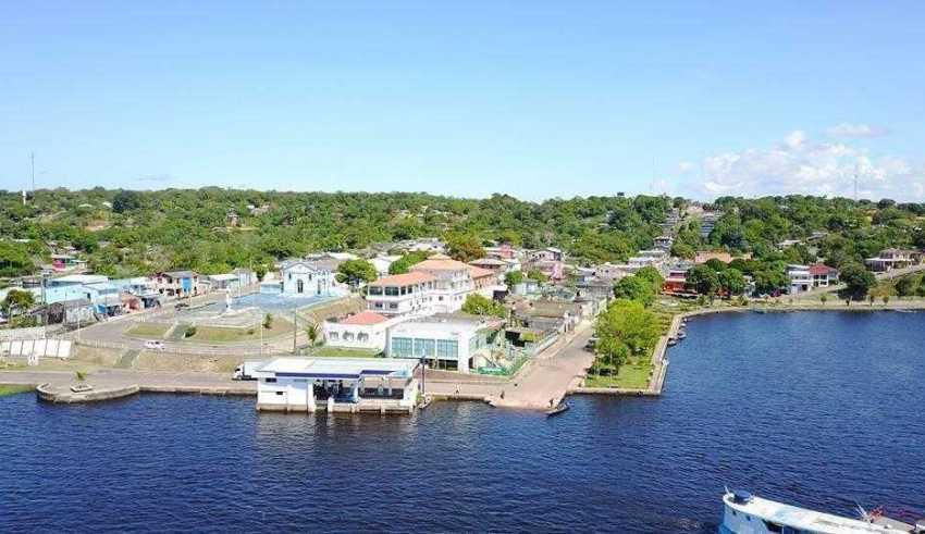 A orla da cidade vista de cima da ilhota | Foto: Divulgação/Assessoria Prefeitura de Silves