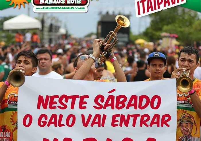 Galo de Manaus promoverá arrastão de Frevo no Centro de Manaus rumo à Banda da B.I.C.A