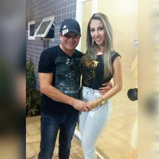 Chimbinha com Leya Emanuelly (Foto: Instagram / Reprodução)
