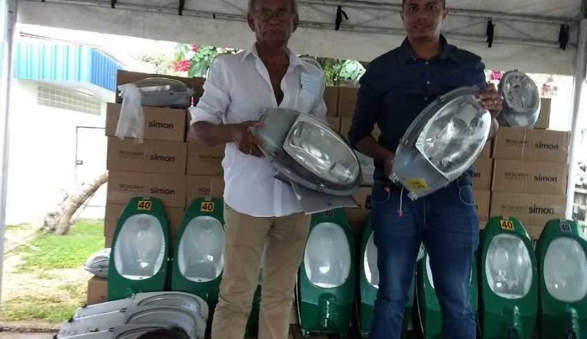 Pauini é contemplado com 700 lâmpadas doadas pela prefeitura de Manaus / Foto : Divulgação