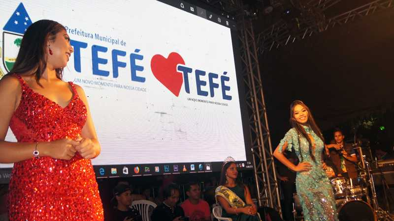 Finalistas do Miss Tefé 2018, 3º lugar e 2º lugar / Foto : No Amzonas é Assim