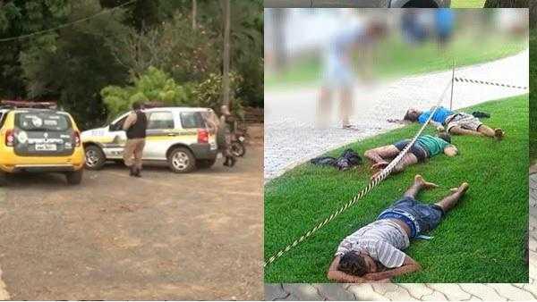 Bandidos tentam invadir fazenda e agricultor com uma calibre 12 mata quatro