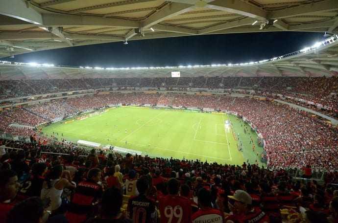 No último jogo realizado na Arena da Amazônia, em 2014, o Alvinegro venceu por 2 a 1 em cima do Flamengo. / Foto: Nathalie Brasil/Semcom