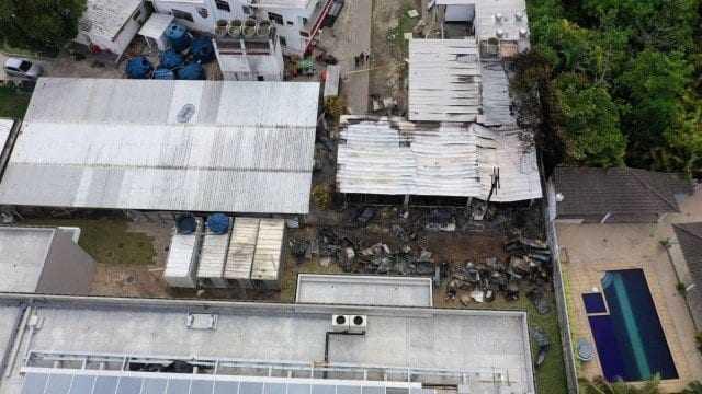 A tragédia no CT Ninho do Urubu aconteceu na madrugada do dia 8 de fevereiro. / Foto: Marie Hospital/AFP