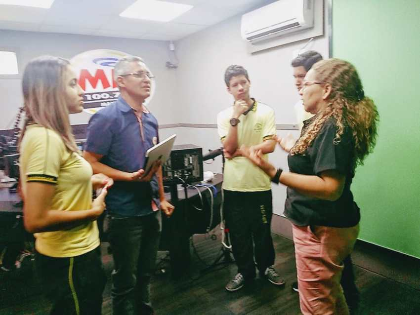 Visita à Rádio Mix FM Manaus. / Foto: Divulgação