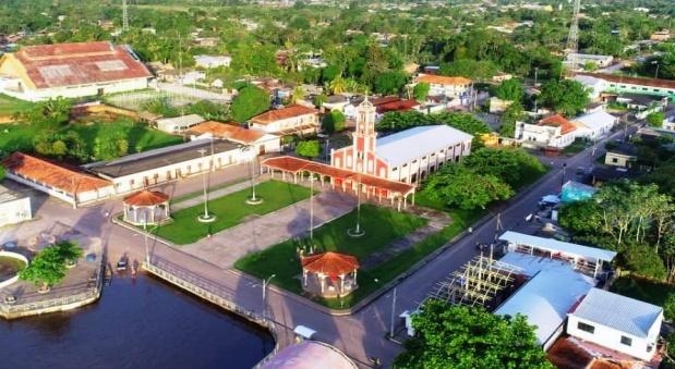 Foto aérea – Igreja Matriz de Nossa Senhora do Bom Socorro Fonte: Assessoria de Comunicação – Clemente Valente