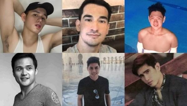 Do canto superior esquerdo: Rommel, John Reyes, John Paul, Gregorio, Louie, Clark