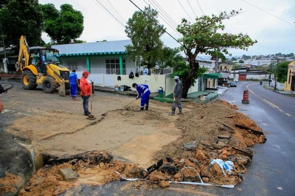 Prefeitura de Manaus avança em obras emergenciais em todas as zonas da cidade / Foto – Marcio Melo