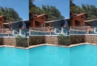 Vídeo : Homem cai de trampolim e o pior acontece!