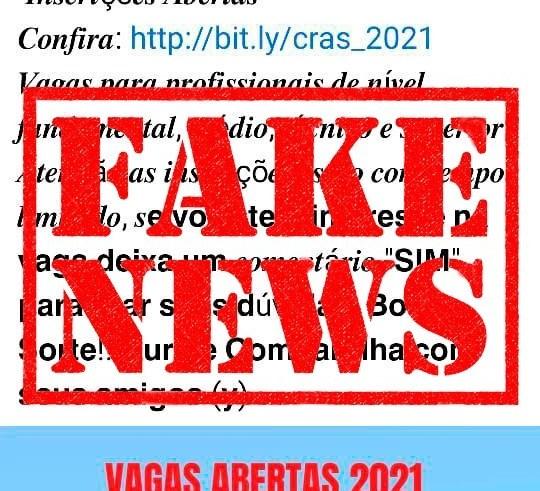 É falsa a notícia de que a Prefeitura de Manaus está com processo seletivo para trabalhar nos Cras / Foto: Divulgação / Semasc