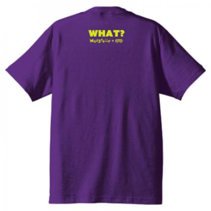 TO DIE FOR Tシャツ パープル×ネオンイエロー Monstownコラボモデル 背面