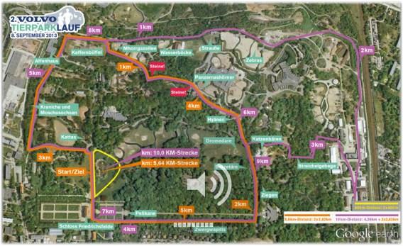 Tierpark Lauf Streckenplan