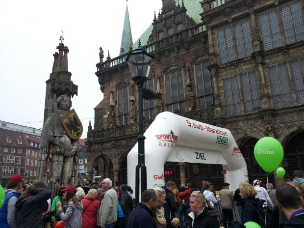 Finish Line at the Marktplatz