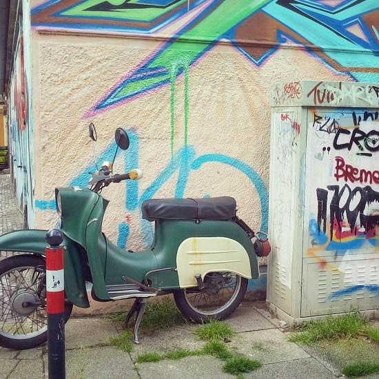 Green Motorbike