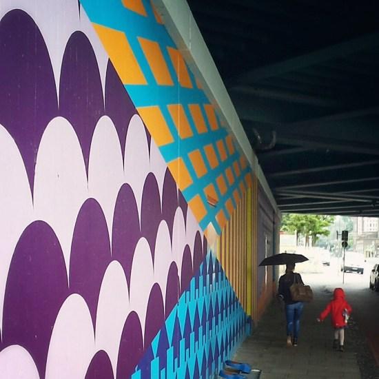 Purple Street Art
