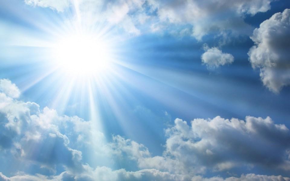 Bright-Sun-Blue-Sky-Clouds