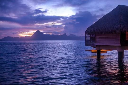 Sunset in Tahiti