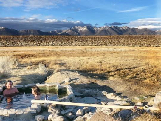 Shepard Hot Springs near Mammoth