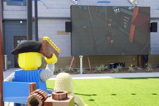 Outdoor cinema at the Legoland Castle Hotel California