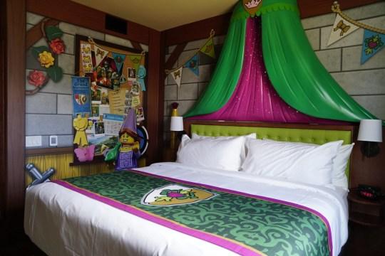 The Royal Princess Room at the Legoland Castle Hotel California