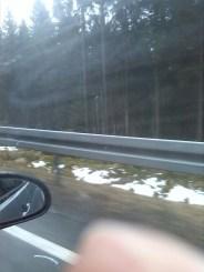 Drei Meter Schnee. Nebeneinander.