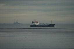 Gut was los vor Cuxhaven