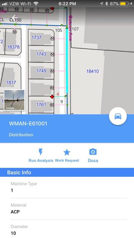 Workorder GIS management