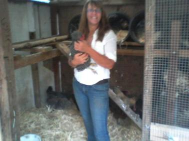 My first day with chickens...and the smile has not stopped since!
