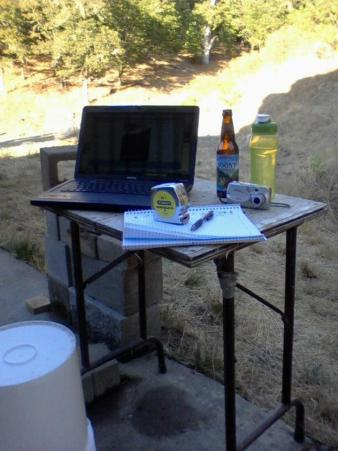 This was my work station when I began planning the renovations for my coop.