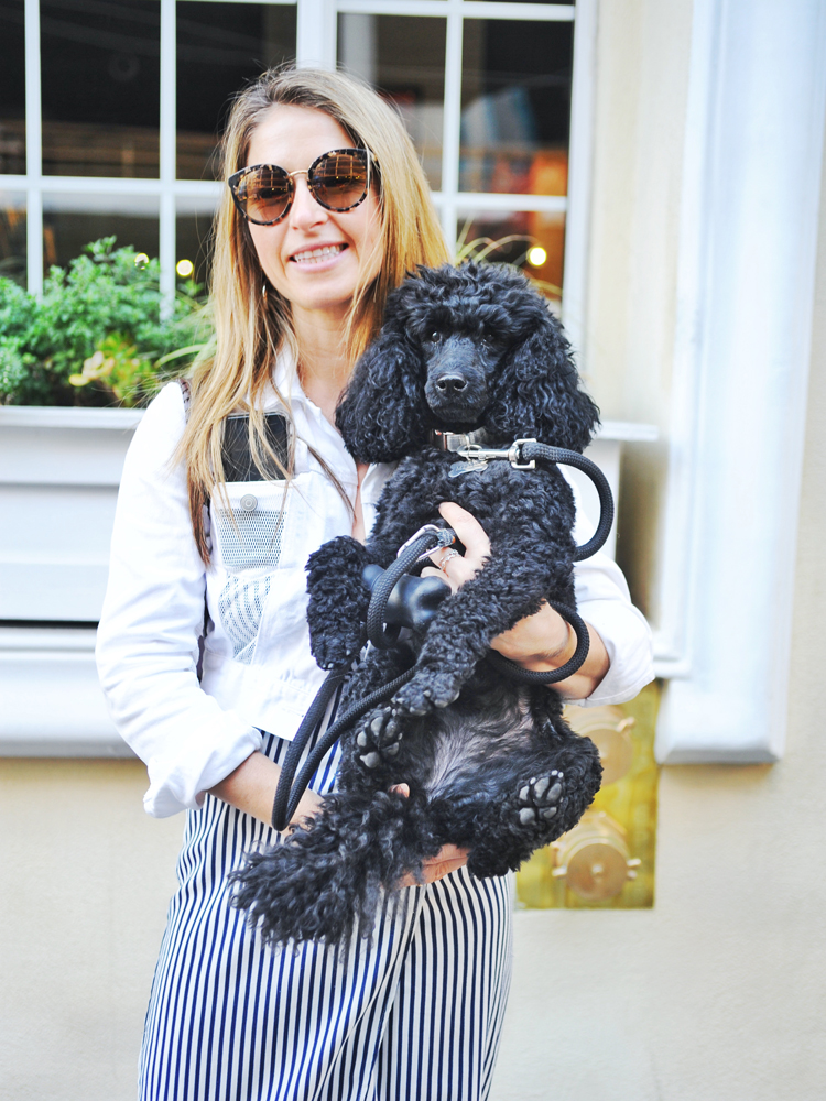 "Renee of Russian Hill was so well-coordinated with her adorable dog that we had to stop and chat. She described her style as ""comfortable but not at the expense of sexy."" And La Poochie? ""My dog Minni is definitely the fanciest of us — she's prancy fancy."""