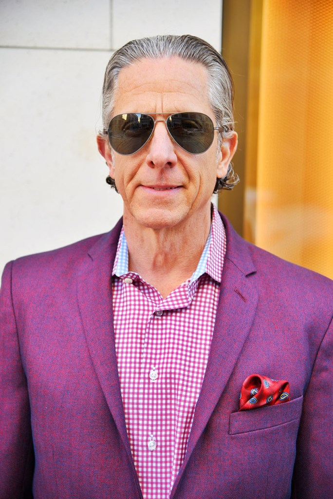"""""""My wife says I'm a bon vivant or a dandy,"""" says Richard Hayes while describing his love of fine clothing. """"I enjoy finding fun stuff, mixing it up and putting it all together."""" He's always been a fashion faithful, but his approach to style — like all things in life — has evolved through the years, thanks in part to the online shopping revolution.  Jacket: Aspetto"""