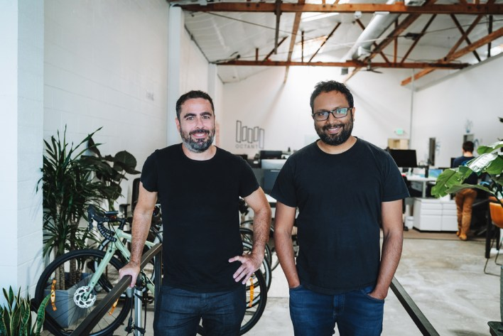 Octant co-founder Ramsey Homsany (left) and co-founder and CEO Sri Kosuri are pictured at the biotech company's offices in Emeryville.