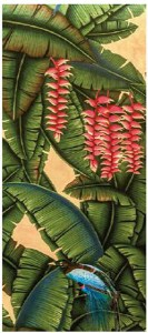 Palms Eclectic Handpainted Wallpaper