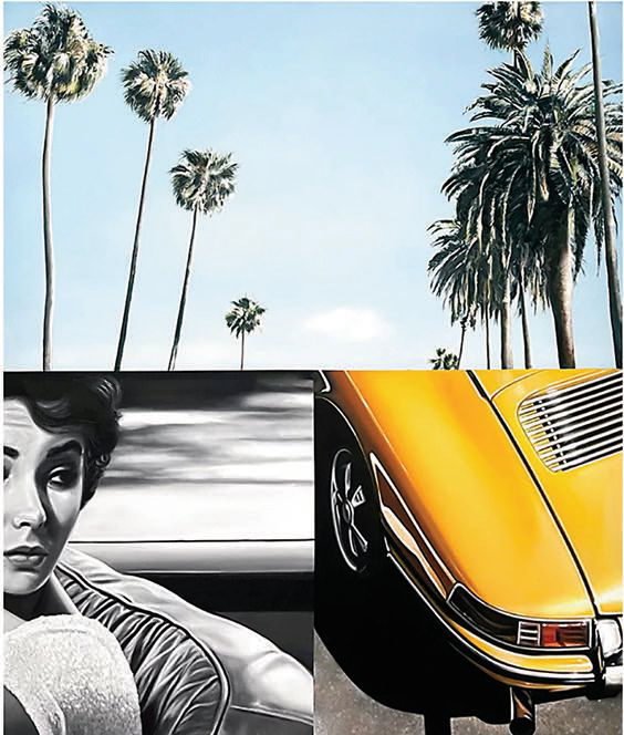 Palm Drive (oil on canvas, 72 × 60 inches)
