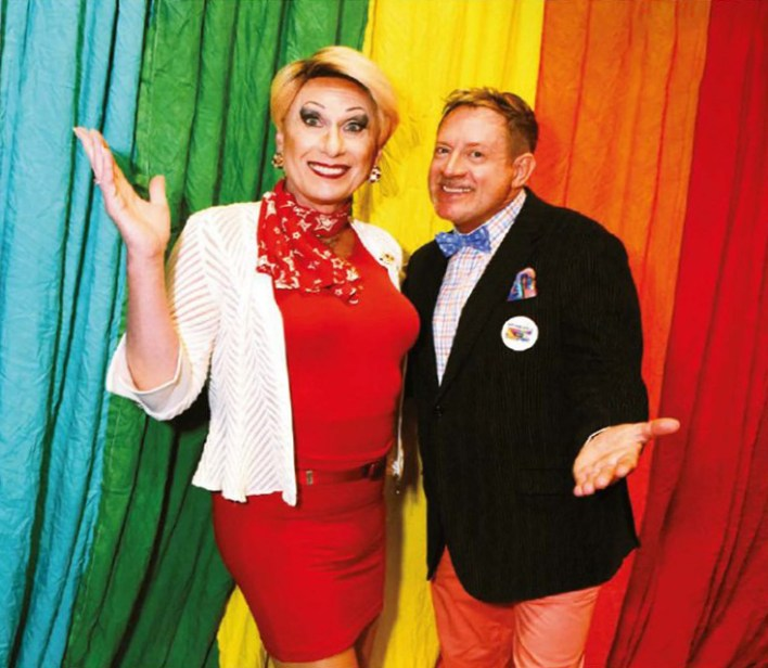 Donna Sachet and Gary Virginia bring a perpetual spark to Pride Brunch.