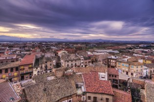 Sunset and dusk in La Rioja