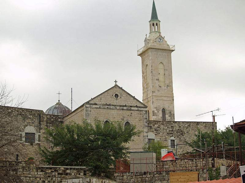 The Catholic Church of St. John the Baptist, on the site where his birth.Photo by v.