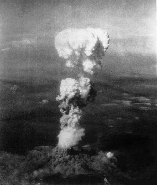 Atomic cloud over Hiroshima.